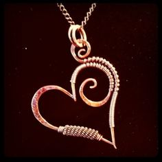 Hammered Heart necklace. My design.