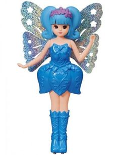 NEW Tomy fluttering fly by fairy Rika -chan Blue ABS total length about 6in FS