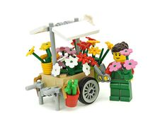 Little LEGO flower cart is overflowing with nice touches