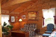 From Old Virginia Hand Hewn Log Homes, Inc. this living room is just right for your log cabin.  http://loghomes.org/