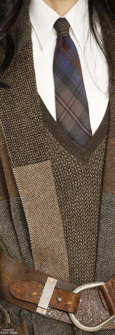 Ralph Lauren Fall 2016 RTW great patchwork idea of lovely wool