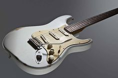 Fender Musical Instruments - Road Worn 60's Strat - Rosewood Neck in Olympic White