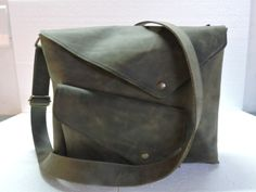 dca083835cf8 Product Name - Gray Hanco Leather Messenger Bag. Size ( Inch ) - x x Color  - Brown Leather Type - Genuine Leather Lining - Cotton Canvas