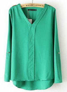 Amazon.co.jp: R-port レディース 鋲付きデザイン Vネックシャツ 【全5色】: 服&ファッション小物