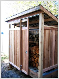 Wood Storage Shed Designs: Keep Your Firewood from Getting Wet and Ready to Use