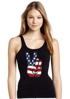 american flag peace women tank top print screen tank by DarkCoffe, $20.00