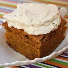 Pumpkin Spice Blondies with Brown Sugar Cream Cheese Frosting
