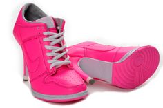 save off bad5d eea27 neon pink Pink High Heels, Low Heels, Womens High Heels, Nike Outfits,