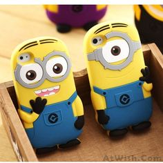 Wow~ Awesome Cartoon Minion Silicone Iphone Case for Iphone 4/4s/5! It only…