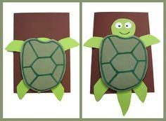 DIY kort: Turtle / Skildpadde pop up