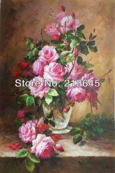 Museu pintado à mão impressionista pintura a óleo sobre tela rosa, Impressionismo pintura a óleo sobre tela rosa