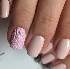 Super Cute Ideas for Summer Nail Art - Nailschick Cute Pink Nails, Pink Nail Art, Sexy Nails, Flower Nail Art, 3d Nails, Art Simple, Bride Nails, Stylish Nails, Nail Trends
