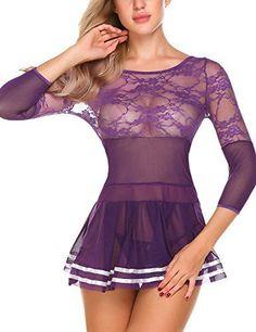 Sexy Pajamas, Pajamas Women, Babydoll Lingerie, Sexy Lingerie, Fashion Lingerie, Women's Fashion, Pretty Lingerie, Sleepwear Women, Nightwear