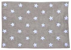 tapis gris etoile blanc