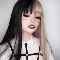 kawaii aesthetic makeup its a chupa chups Adorable - aestheticmakeup Edgy Makeup, Grunge Makeup, Cute Makeup, Makeup Looks, Hair Makeup, Grunge Goth, Lolita Makeup, Anime Makeup, Kawaii Makeup