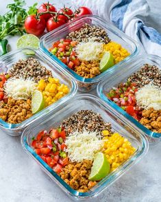 Taco MealPrep Energy Bowls are Clean Eating Approved! is part of Energy bowl servings Ingredients 1 lb ground chicken, or turkey 2 Tbsp - Clean Eating Guide, Clean Eating For Beginners, Clean Eating Meal Plan, Clean Eating Dinner, Clean Eating Snacks, Healthy Snacks, Healthy Eating, Healthy Recipes, Snacks Kids