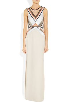 any given friday embellished silk gown. sass & bide.