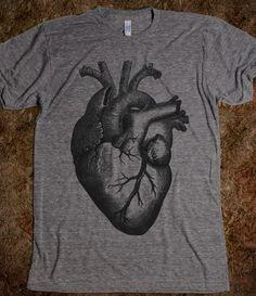 ANATOMICAL HEART American Apparel Unisex Athletic Tee $33.99 #heart #black #trendy #anatomical #tshirt #skreened