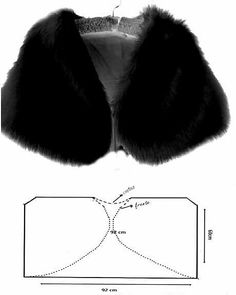 No photo description available. Coat Patterns, Clothing Patterns, Dress Patterns, Sewing Patterns, Faux Fur Shrug, Faux Fur Stole, Bolero Pattern, Jacket Pattern, Sewing Clothes