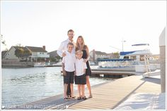 Huntington Beach Family Photos boat docks bridge Trinidad Island Sunset