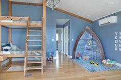 Nautical Theme Kid's Room | HGTV >> http://www.hgtv.com/design-blog/shows/tour-the-diy-network-blog-cabin?soc=pinterest
