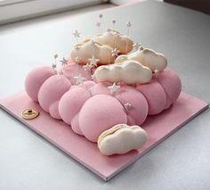 Dreamy cloud mousse cake by @nivskaya