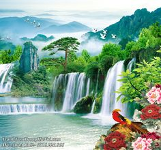 Waterfalls, Landscaping, Paintings, Fantasy, Pictures, Outdoor, Art, Photos, Outdoors