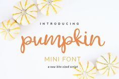Pumpkin Mini Font by RW | Productions on Creative Market