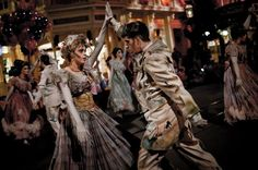 images+of+haunted+ballroom+dancers | Haunted Mansion ballroom dancers in the Disney Boo To You parade. # ...