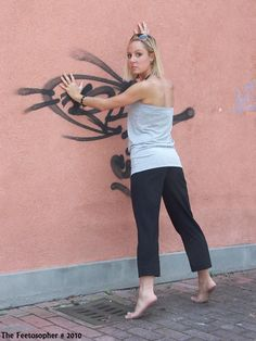 Suburban Barefoot Beauty by Feetosopher