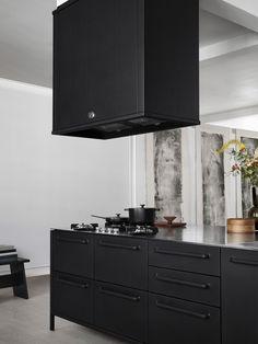 Vipp kitchen   vipp.com Kitchen Units, New Kitchen, Kitchen Cabinets, Kitchen Ideas, Minimal Kitchen, Prefab Homes, Black Kitchens, Luxury Living, Kitchen Design