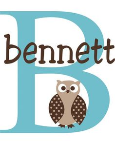 Visitors to your child's room will always know whooo it belongs to with this adorable owl-themed name decal. Click above to customize one for YOUR child!