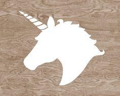 cabeza de unicornio silueta - Buscar con Google