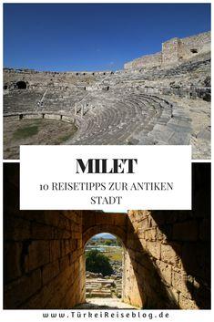 Ruinen von Milet, nahe Izmir in der Türkei! #Türkei #Urlaub #Reisen #Reiseblog #Milet Istanbul, Desktop Screenshot, Backpacking, Movie Posters, Movies, Travel, Vacation Travel, Cappadocia, Ruins