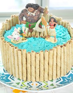 Make these simple Moana desserts for a Moana kids party or for a Moana movie night. They are cute and easy for any mom to make. Moana Party, Moana Themed Party, Moana Birthday Party, 2 Birthday Cake, 6th Birthday Parties, Luau Party, Moana Decorations, Moana Birthday Decorations, Moana Cupcake