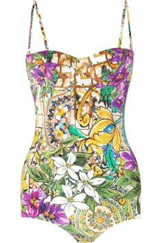 Dolce & Gabbana | Printed underwired swimsuit | NET-A-PORTER.COM
