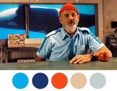 Image from film The Life Aquatic with Steve Zissou by Wes Anderson.  Love the way Bill wears that cap.  Style is in the wearing.  Some have it, others don't. #caps