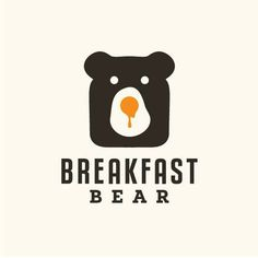 interesting use of of negative space and color.  Breakfast Bear