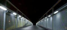 LED handrail lights North Action pedestrian bridge London