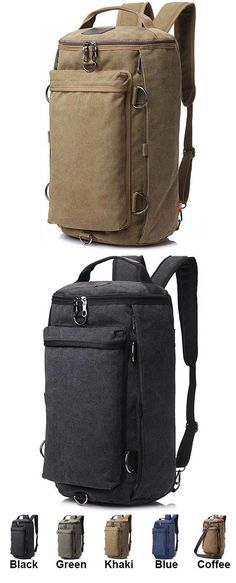 Retro Camping Backpack Large Bucket Travel Outdoor Rucksack Multifunction Gym Shoulder Bag Canvas backpack for big sale! Lace Backpack, Canvas Backpack, Backpack Bags, Leather Backpack, Duffel Bag, Vintage Backpacks, Boys Backpacks, College Backpacks, Fashion Bags