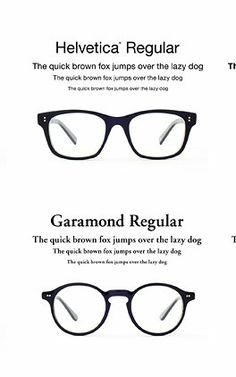A Japanese designer created a new line of eyeglasses inspired by two of the world's most famous fonts.