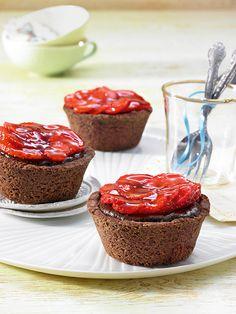 Perfekte Kombination aus herrlicher Schokolade und aromatischen Erdbeeren