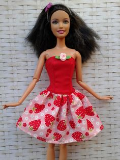Handmade dress for Barbie doll clothes by CreativeSewingIwona