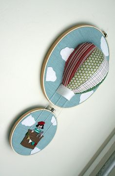Hot air balloon hoop art!