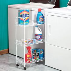 Roll-Out Caddy for your laundry room organizing