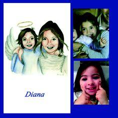 Diana hizo la Comunión y quiso personalizar también al angelito con la carita de su hermana pequeña...