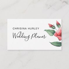 Pink red floral green wedding business card Small Gift Bags, Small Gifts, Lilac Grey, Pink, Dandelion Flower, Seating Chart Wedding, Botanical Flowers, Watercolor Rose, Card Patterns