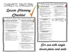 otes lesson plan template - sample evidence for charlotte danielson framework