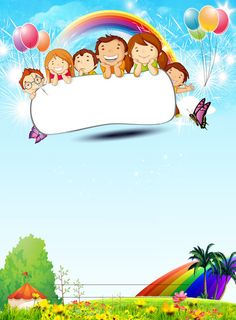 Poster Background Design, Powerpoint Background Design, Kids Background, Creative Poster Design, Creative Posters, Design Art, Kids Cartoon Characters, Cartoon Kids, Birthday Cartoon