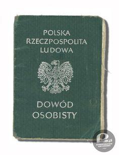 Identity document of the Communist era Poland